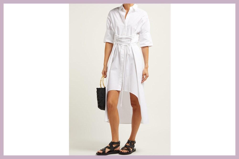 Elizabeth x Twill Corset-Style Cotton Shirtdress