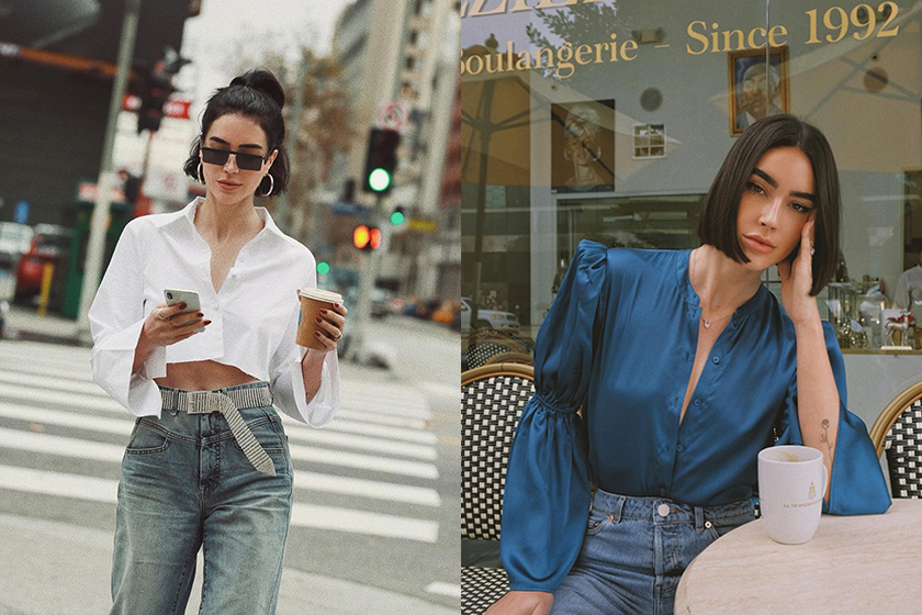 instagramer brittany Xavier jeans daily look