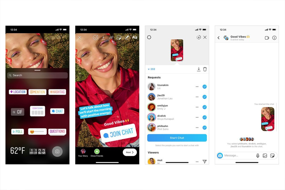 Instagram new Stories sticker lets followers to join a new group chat