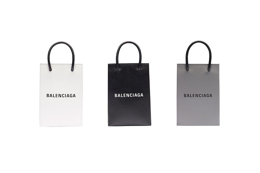 balenciaga phone holder shopping bags