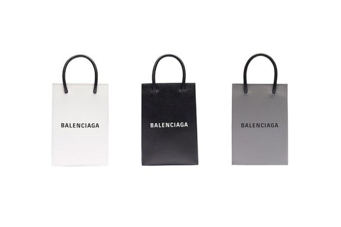 繼手機殼後:Balenciaga 推出這款極簡「手機袋」,迷你尺寸引起一陣轟動!