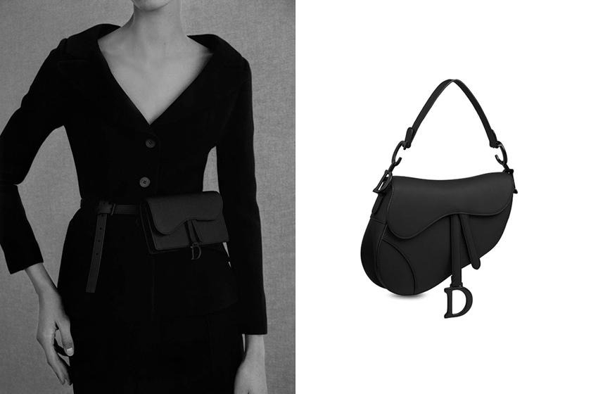 Dior Lady Dior Saddle bags Ultra Matte Black