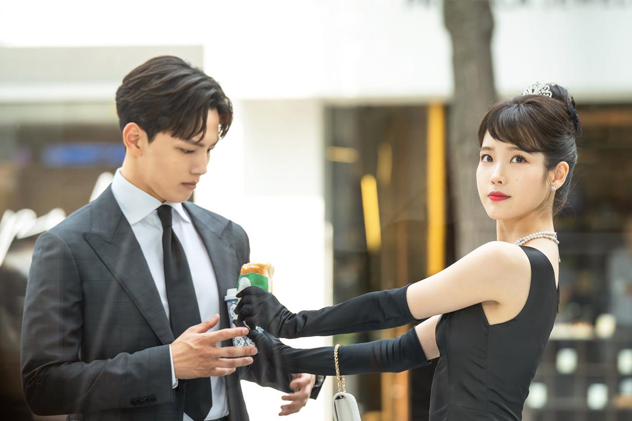 IU Lee Ji Eun Yeo Jin Goo Hotel Del Luna Marie Claire Korea fashion magazine editorial shooting couple black and white style korean idols celebrities actors actresses