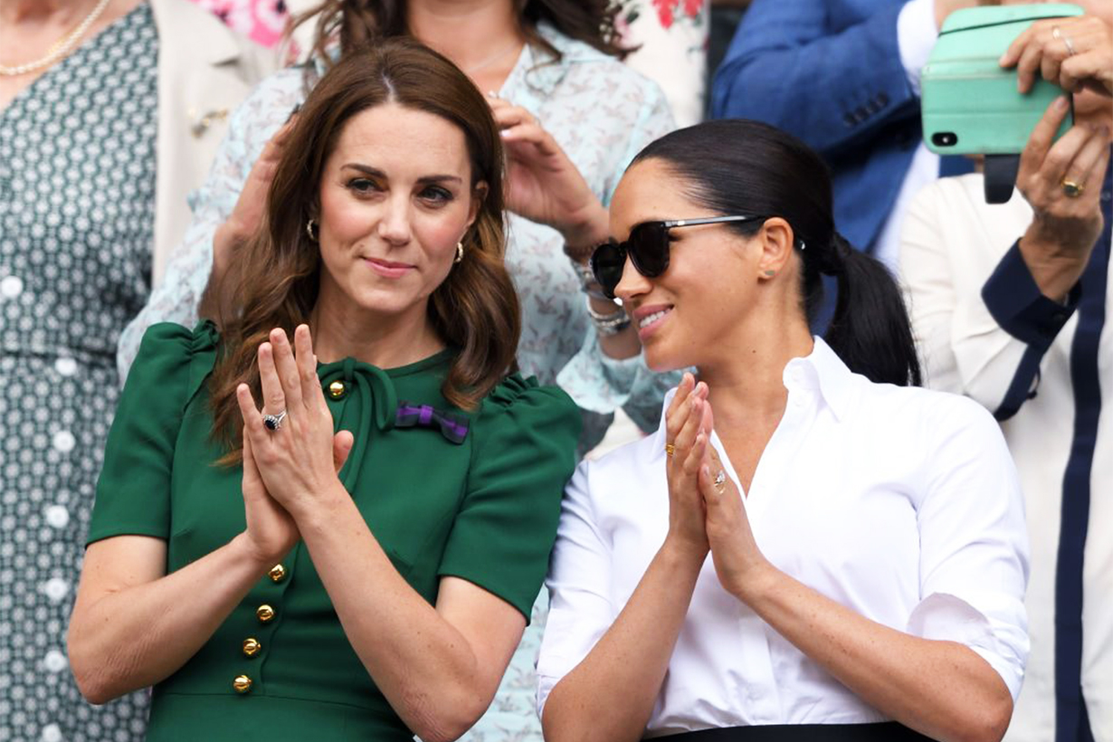 Kate Middleton Comforting Meghan Markle After Serena Williams Lost at Wimbledon