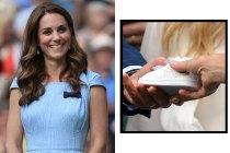 Kate Middleton 觀眾席上收到一隻鞋子,網友得知老人身份驚呼:「他最有資格送!」