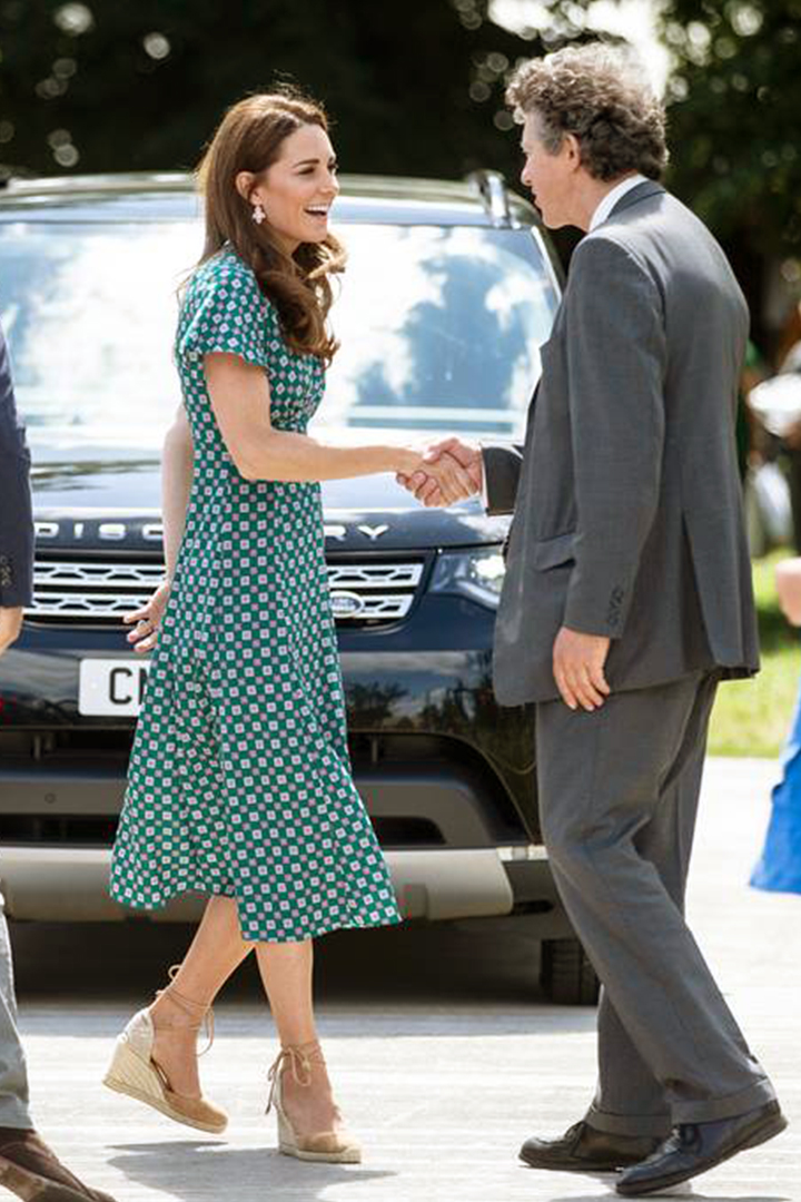 Kate Middleton Wore French Brand Sandro Printed Dress