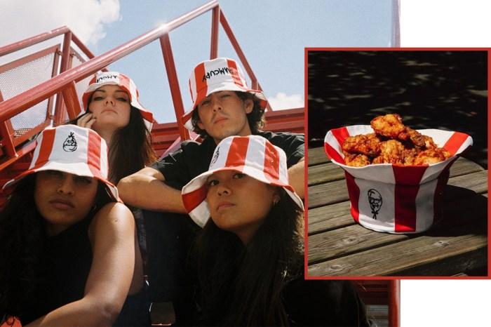 名符其實的 Bucket Hat!KFC 與街頭品牌聯乘推出帽子、雞桶並用的限量漁夫帽!