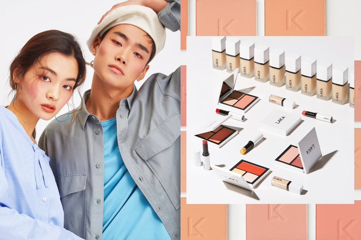 Laka korea first gender neutral makeup brand korean cosmetics blush contouring lipstick foundation eyeshadow  JUST PALETTE  k beauty