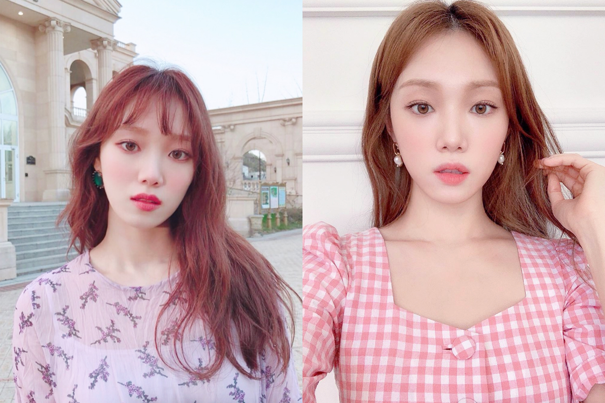 Lee Sung Kyung Biblee hair colour trend 2019 celebrities hairstyles korean idols celebrities actresses models