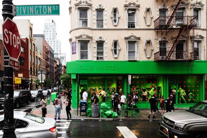 這是惡作劇嗎?由內至外,LV 名店竟髹成霓虹綠色!