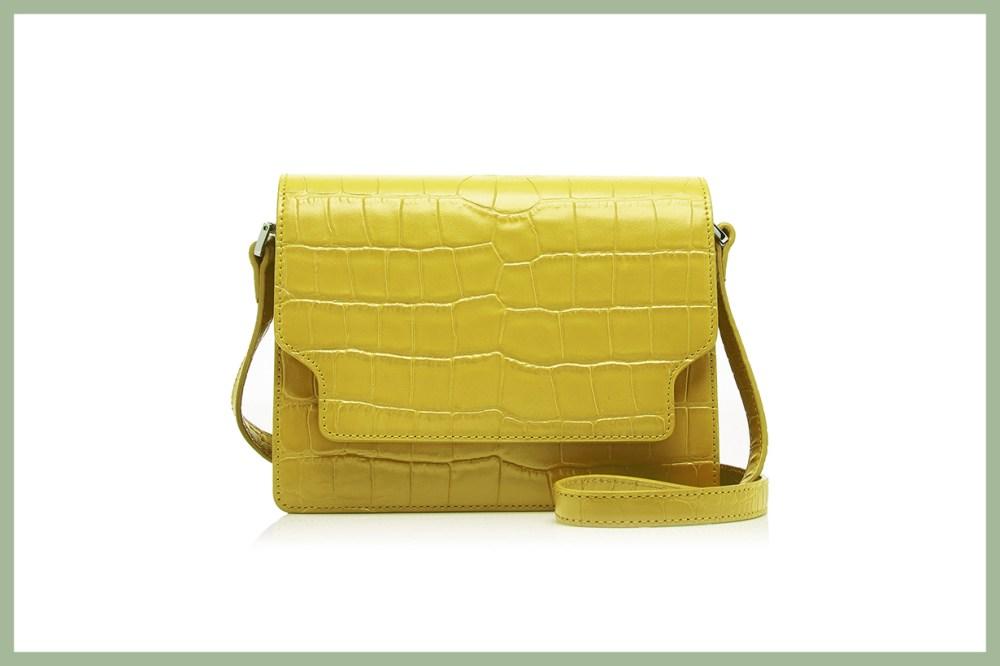 Marge Sherwood Brick Croc-Effect Leather Shoulder Bag