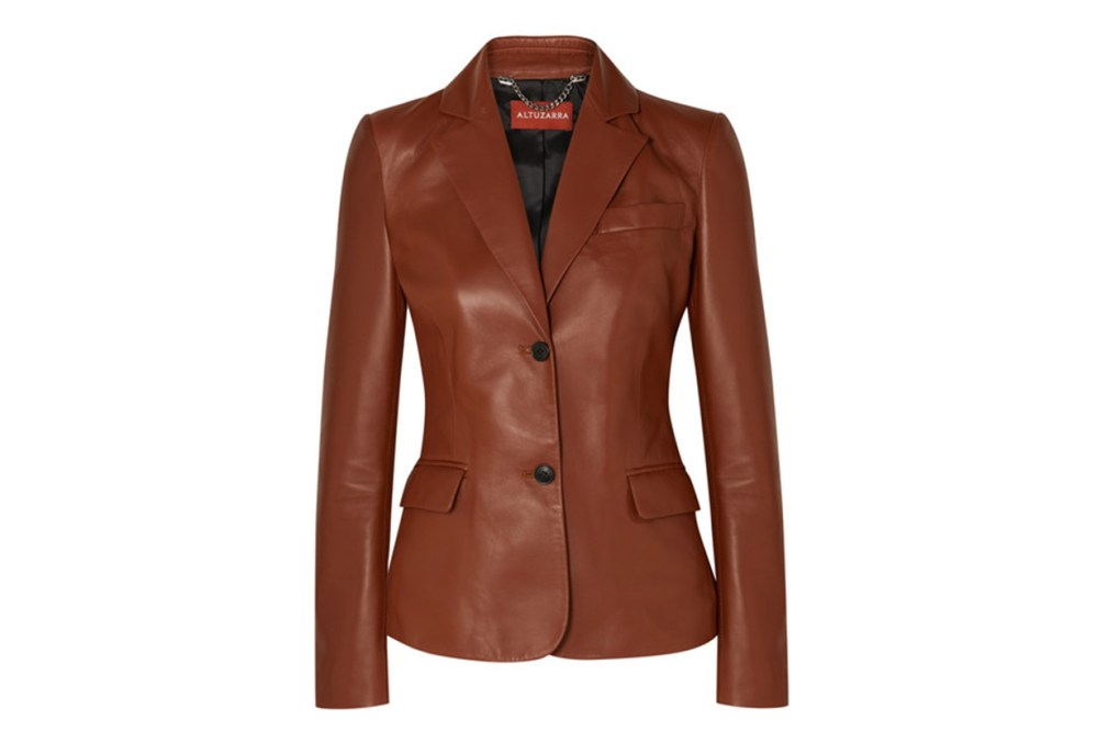 Marilyn Leather Blazer