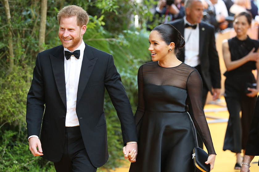 meghan-markle-black dress prince harry