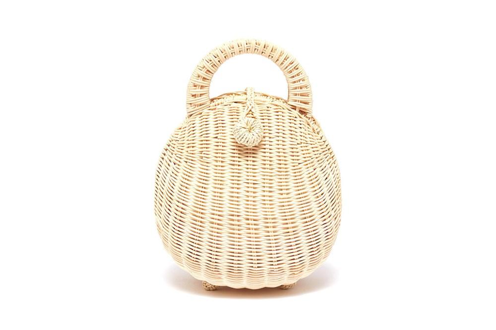 Millie Rattan Top Handle Bag