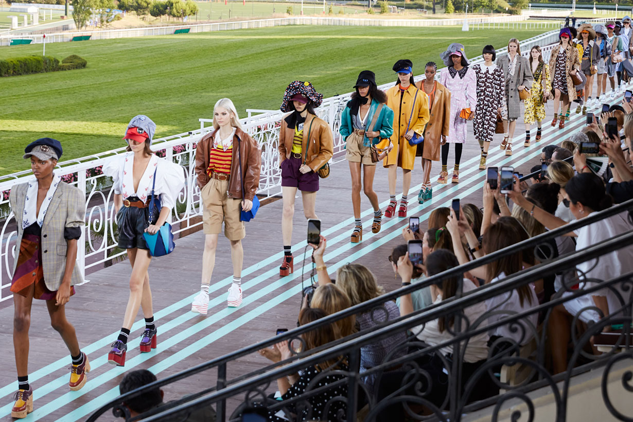 Miu Miu Resort 2020 fashion show jockey club