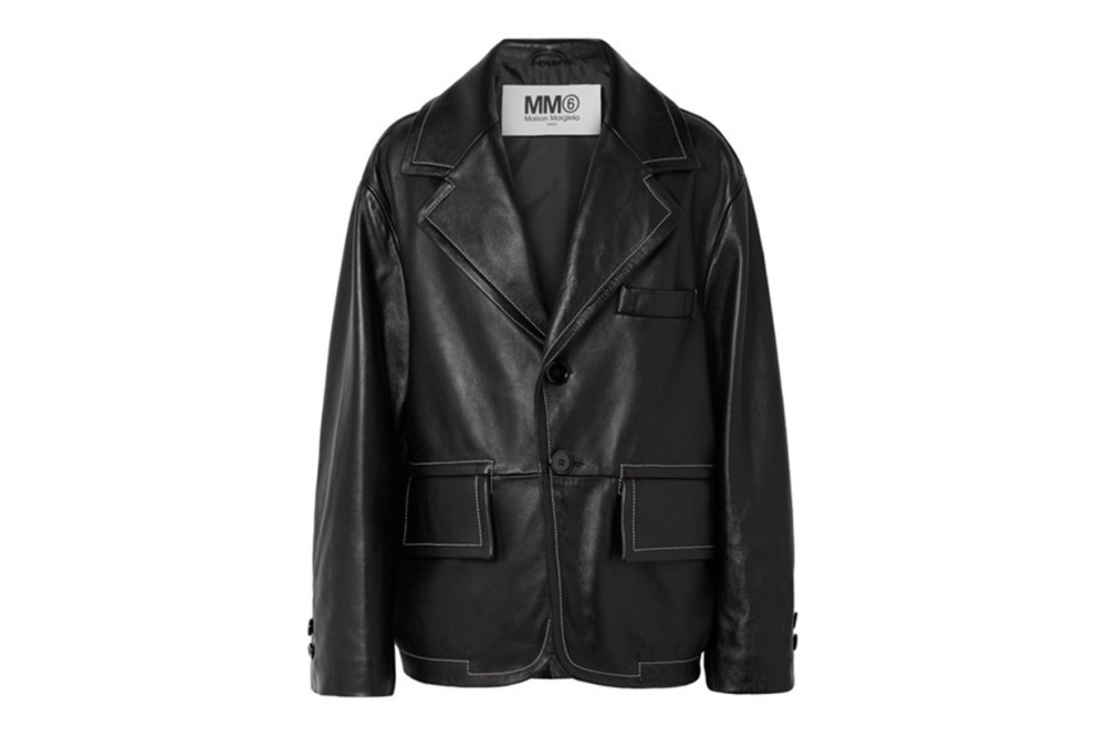 MM6 MAISON MARGIELA Oversized Leather Jacket