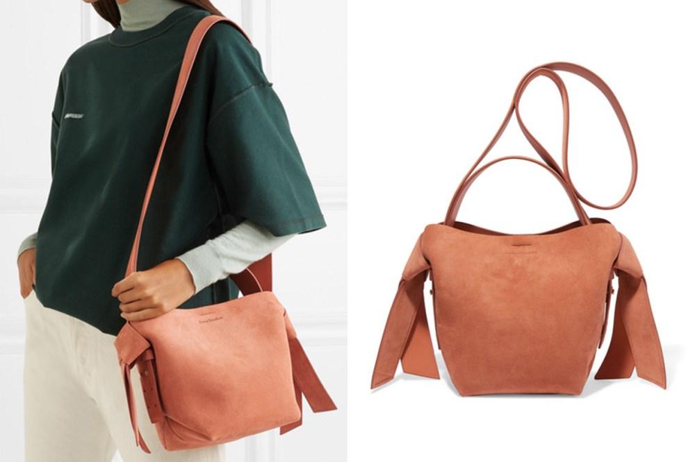 Musubi Mini Knotted Suede Shoulder Bag