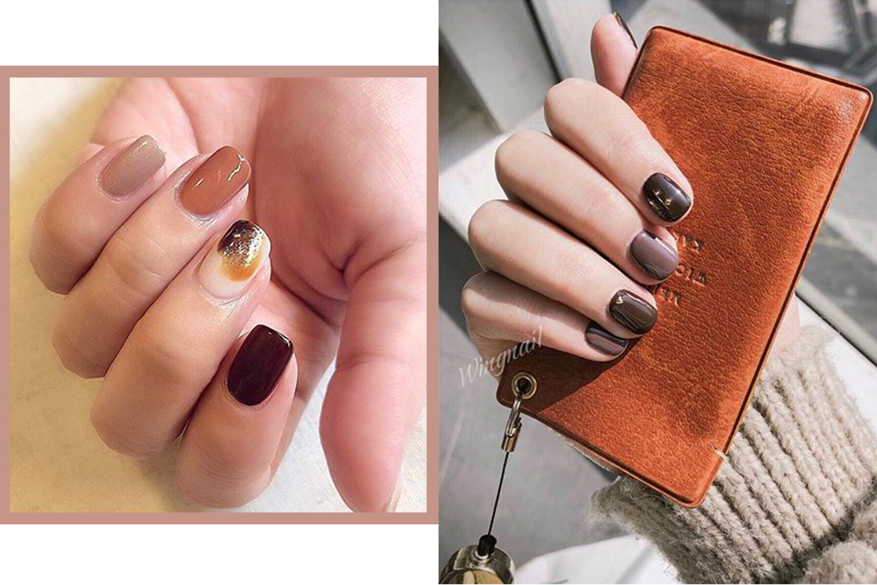 Nail Art earth Tone 2019