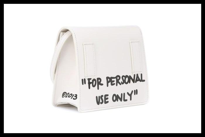 小心被搶!Off-White 新推出的手袋,竟大膽印上這句標語?
