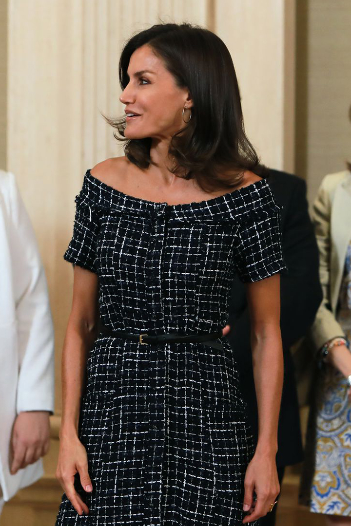 Queen Letizia's Timeless Tweed Zara Dress