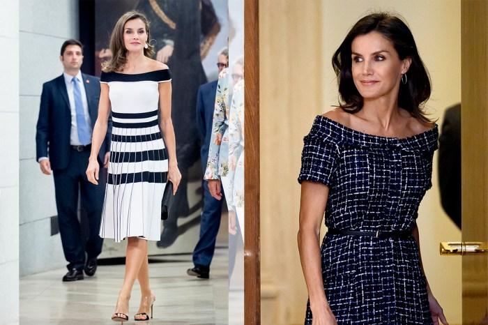將 Zara 穿得最優雅的人!西班牙王后 Letizia 身上這條裙,減價後不到 200 元