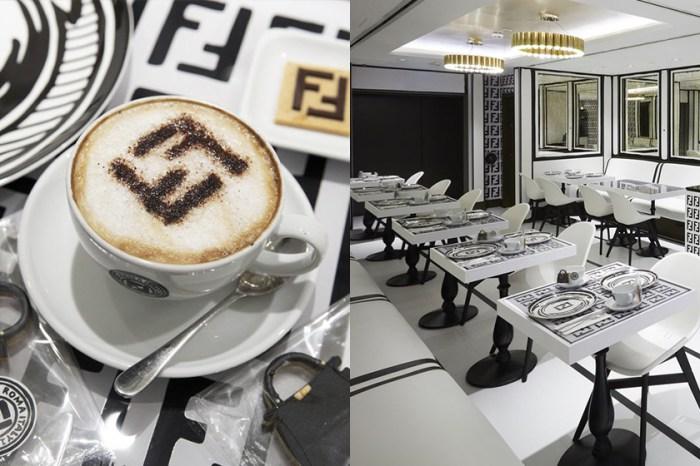 遊走在黑白美學:在倫敦,Fendi 無預警開設了這一間唯美咖啡廳!