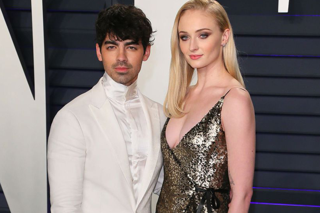 Sophie turner wedding dress Louis Vuitton Nicolas ghesquiere