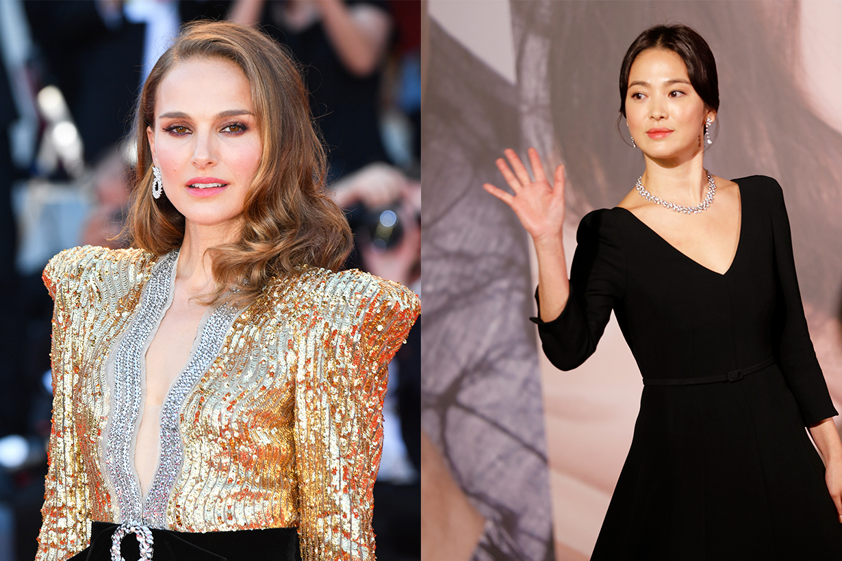 Song Hye Kyo Natalie Portman Natalie Vodianova Chaumet jewelry party W Korea Magazine Monaco Dior Korean Idols celebrities Actress Hollywood actresses