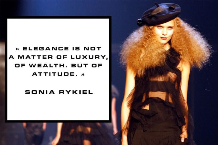 巴黎品牌 Sonia Rykiel 面臨清盤,意味着品牌的檔案將被出售⋯⋯