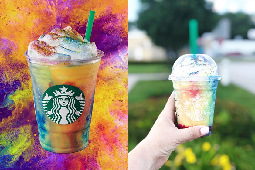 starbucks tie dye frappuccino limited edition drink