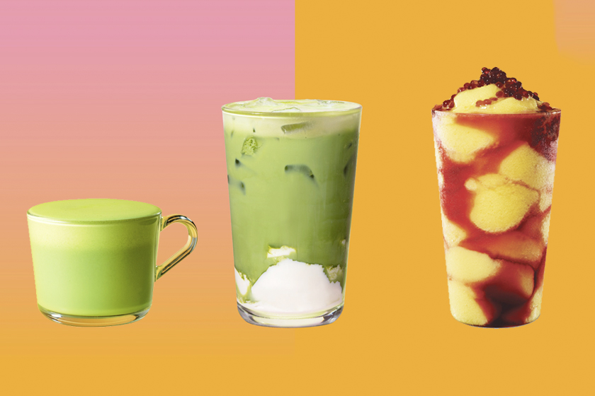 starbucks hk matcha tofu pudding mango summer