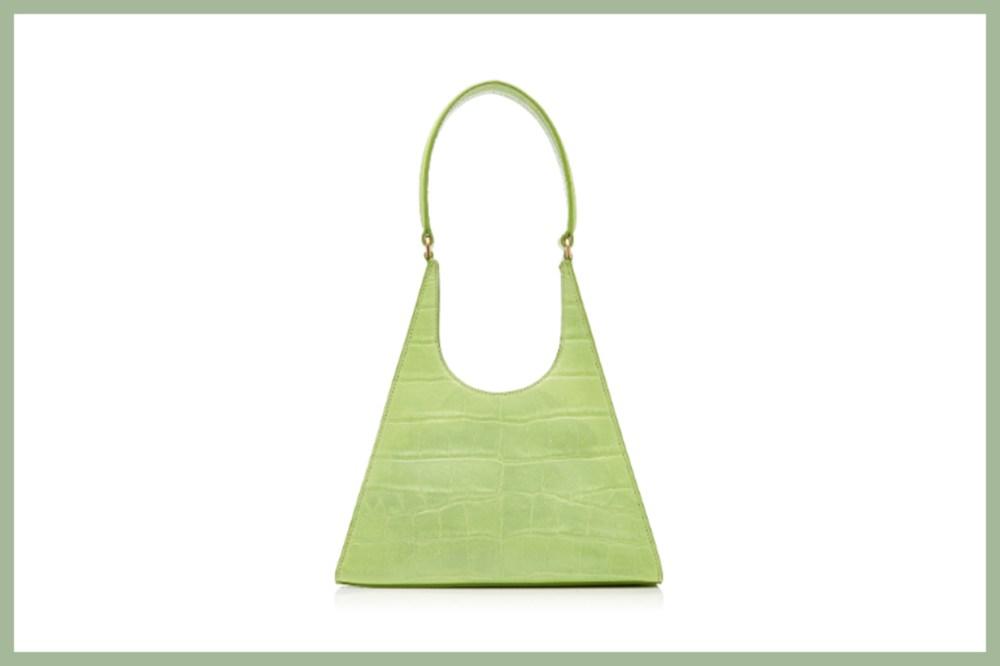 Staud Rey Croc-Effect Leather Shoulder Bag