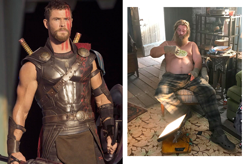 thor end game fat behind the scenes