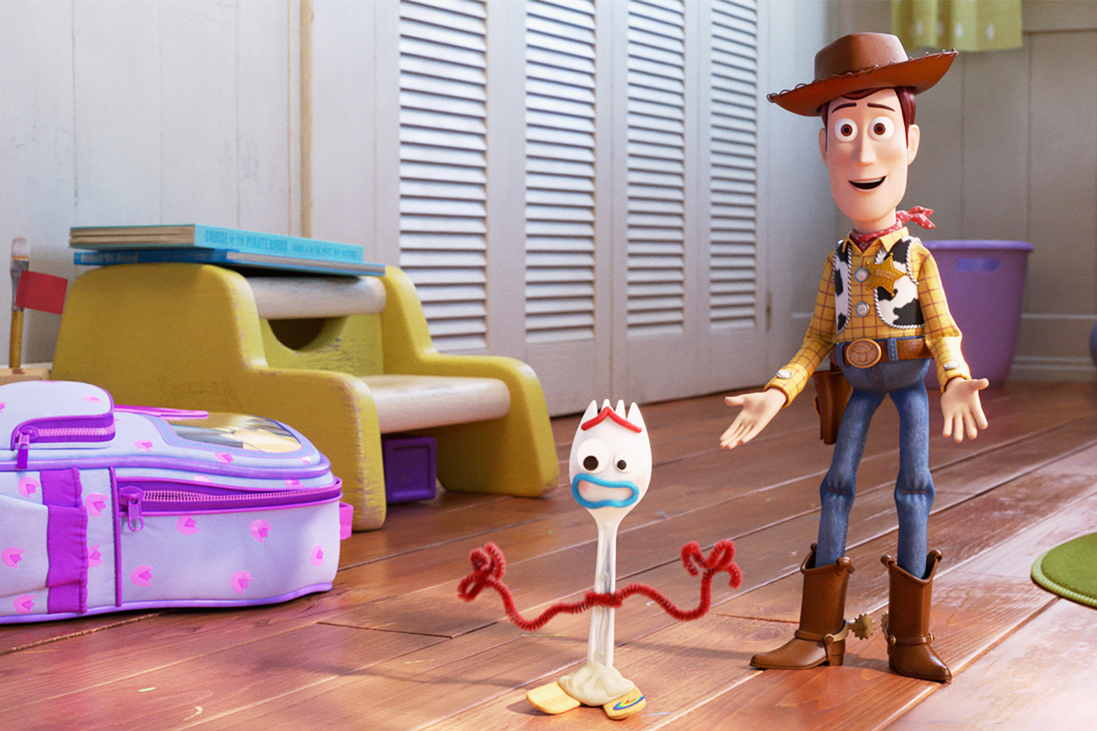 Toy Story 4 Forky Woody Buzz Lightyear Disney+ Forky Asks A Question To Infinity and beyond Disney Pixar movie cartoon