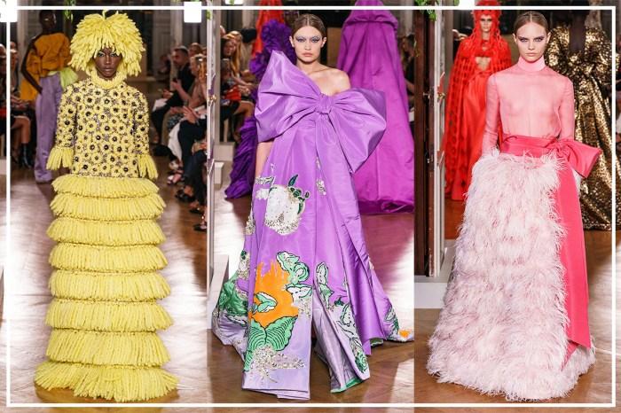 #PFW:優雅設計與精湛工藝已不足以形容!Valentino 以極致的高訂時裝彰顯獨立個性