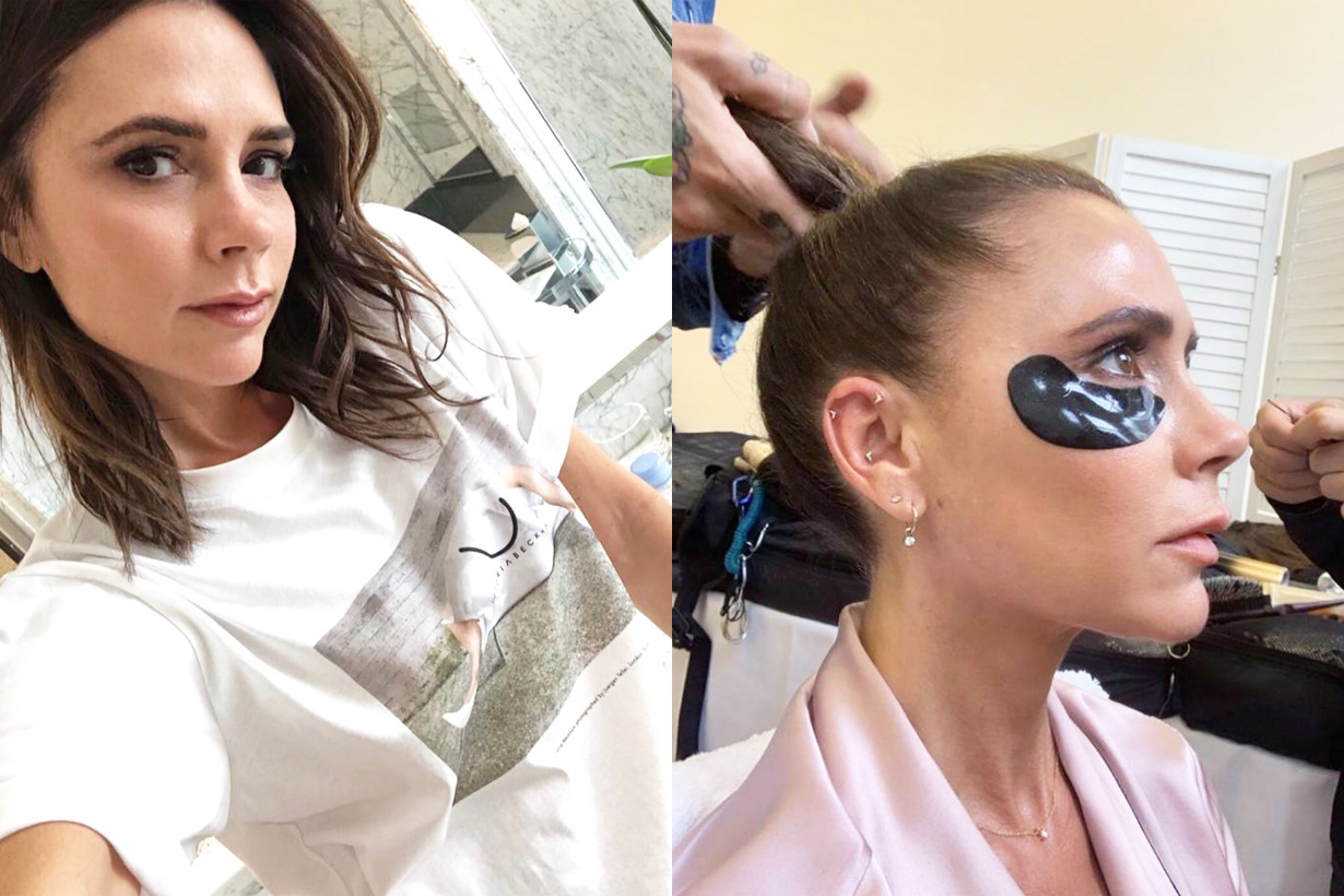 Victoria Beckham own personal skincare brand Victoria Beckham Beauty celebrities brand eye masks