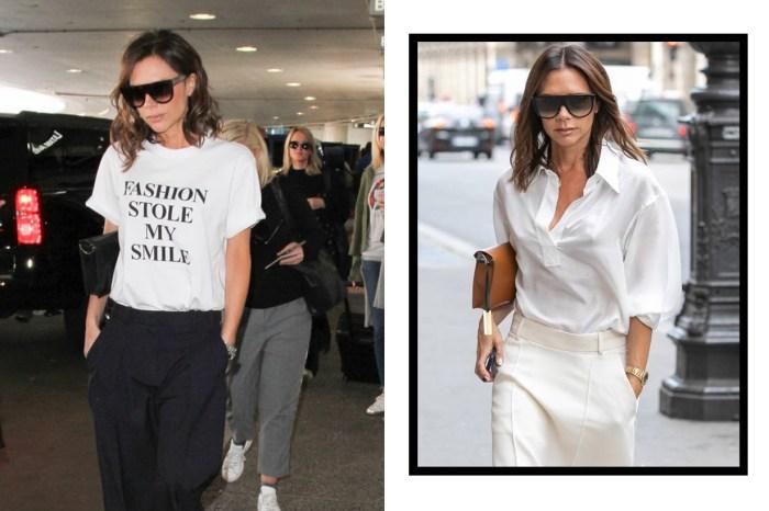 Victoria Beckham 再推出標語 Tee:兩件設計都很符合她的形象!