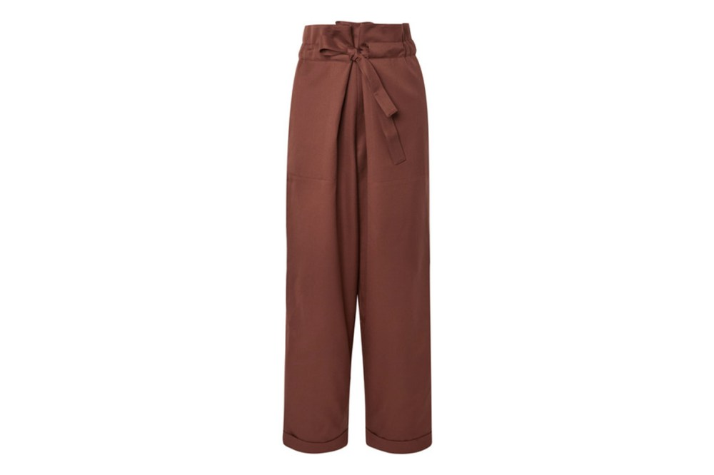 Wool-Twill Tapered Pants