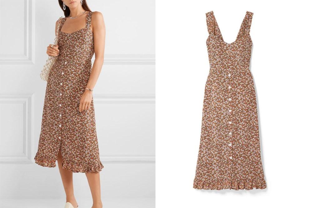 Yasmin Floral-Print Crepe Midi Dress