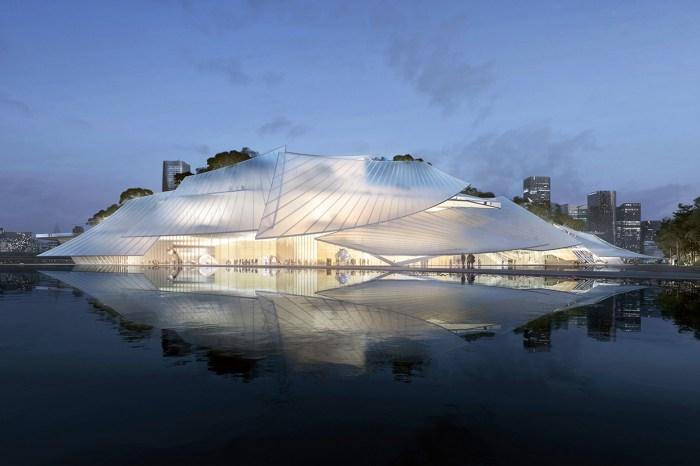 #POPSPOTS in Yiwu:一座浮在海上的劇院,如絲綢般透光的屋頂不論夜晚都美!
