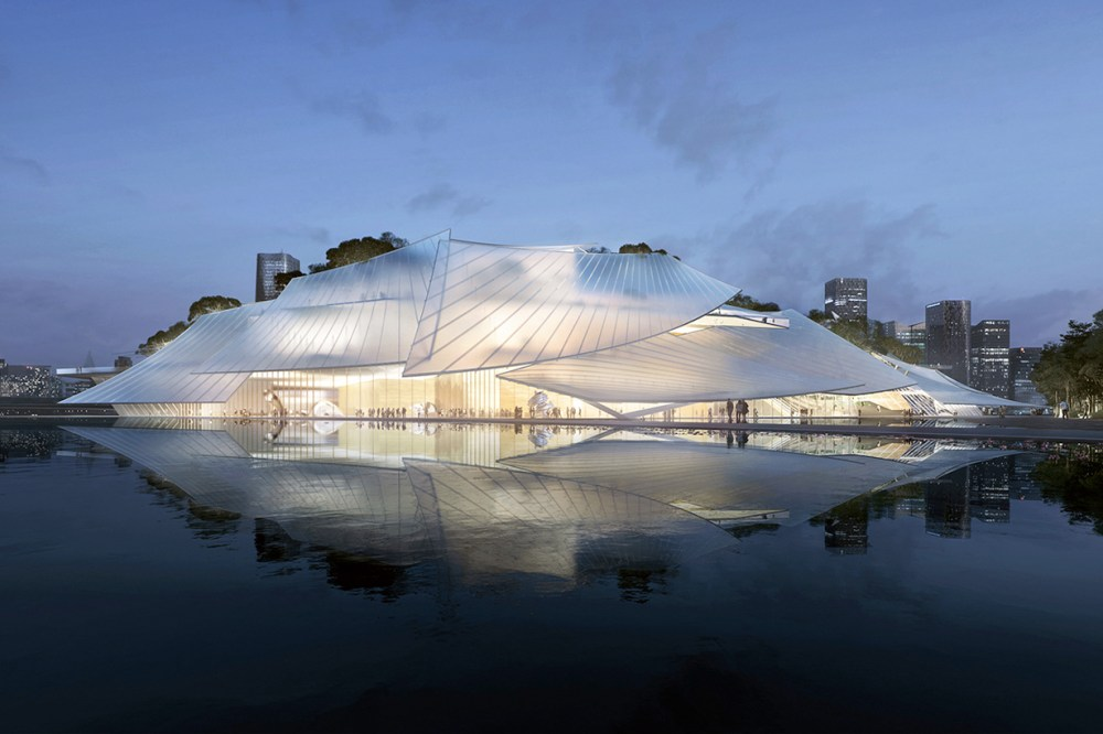 yiuw china theater floating boat mad design
