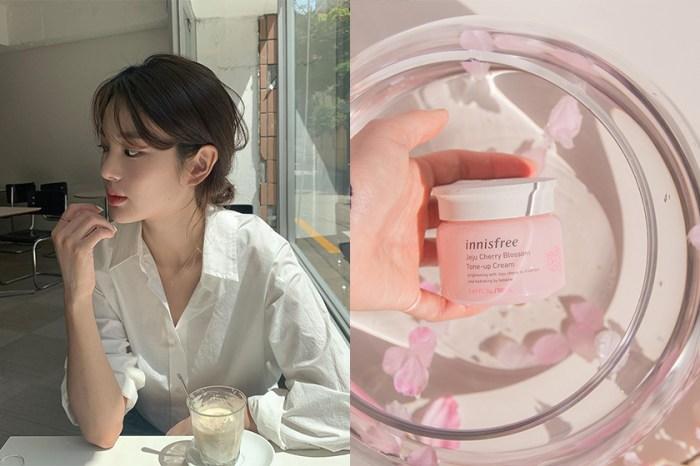 素顏也想美美出門:韓國爆紅的 innisfree 櫻花素顏霜,一邊保養還能有好氣色!