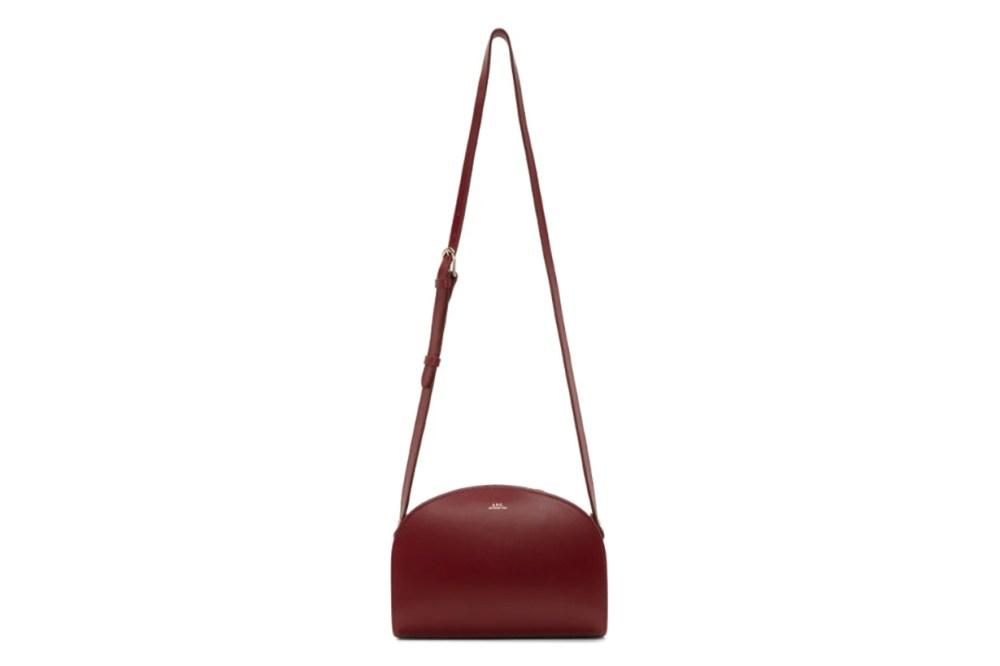 A.P.C. Red Demi-Lune Bag
