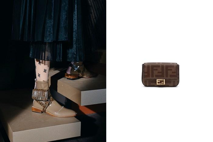 扣在鞋上太可愛:Fendi 經典 Baguette 手袋,沒想到也推出了「迷你」尺寸!