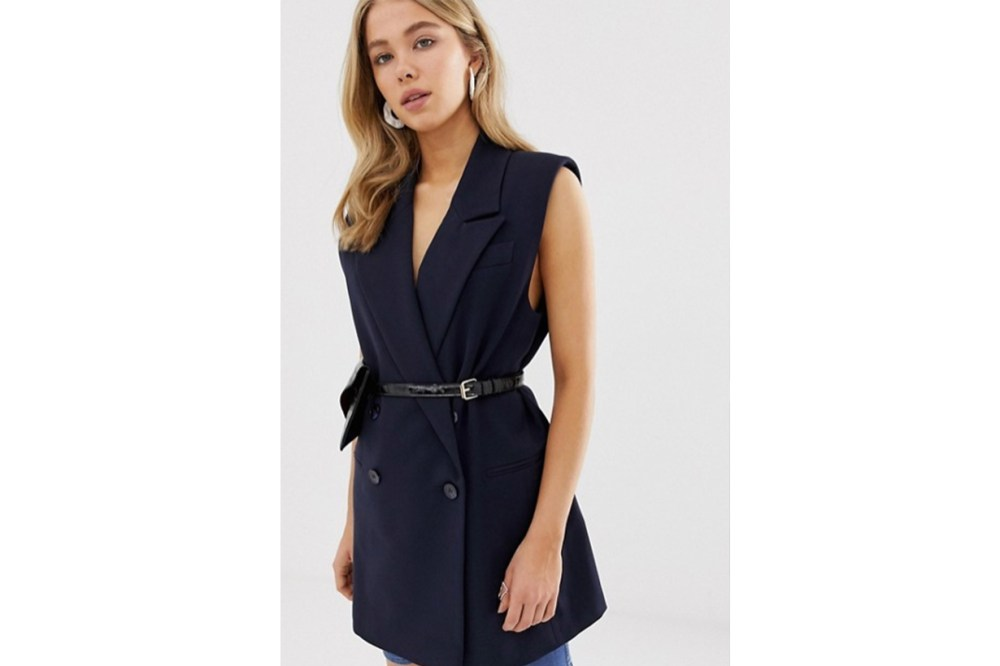 ASOS DESIGN Sleeveless Dad Blazer