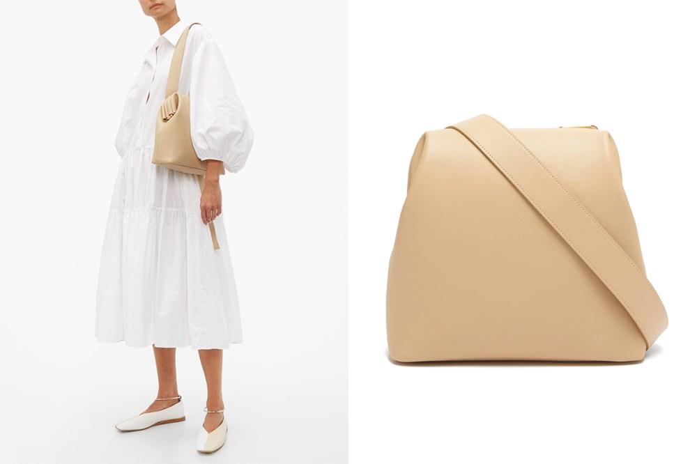 Brot Folded Leather Shoulder Bag