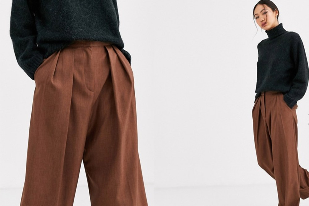 Brown Pleat Front Trouser
