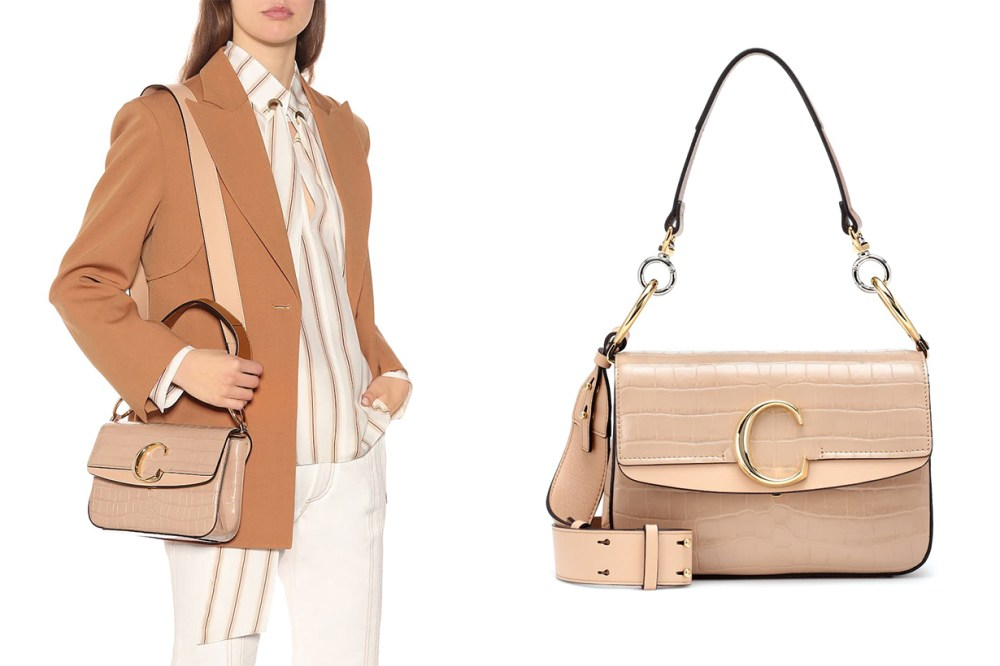 Chloé C Small Leather Shoulder Bag