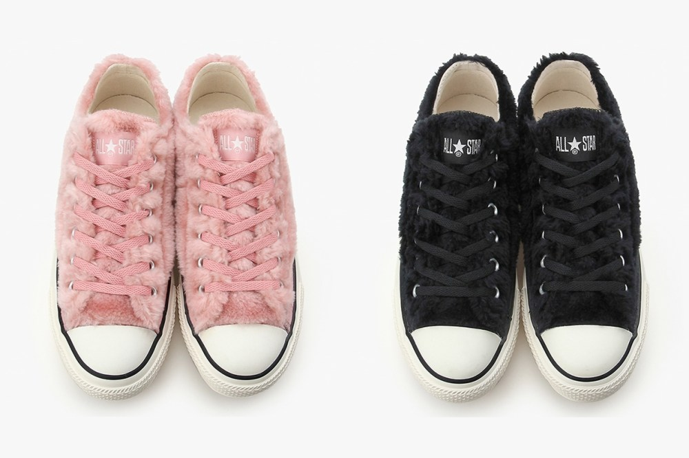 converse pink all star furry cute platform