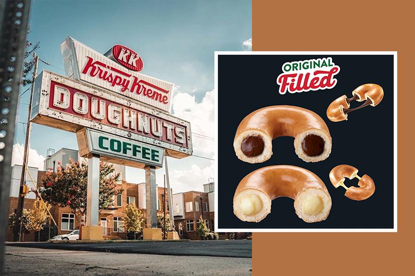 krispy kreme reeses original glazed donuts peanut butter chocolate desserts